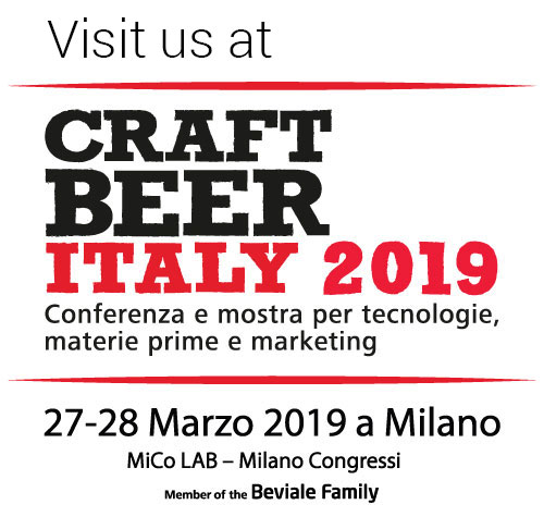 Visit us at CRAFT BEER ITALY 2019 @ Milan